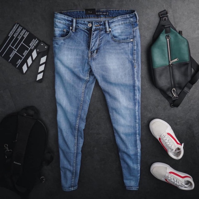Quần jean nam VNXK cao cấp ZR chất jean co giãn- 2 màu