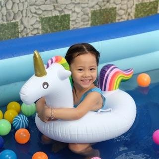 Phao bơi trẻ em hình thú chống lật cho bé-phao xỏ chân hình ngựa Pony