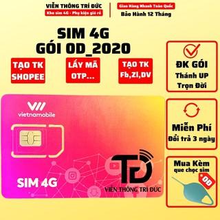 Sim 4G Vietnamobile Gói cước 0D_2020 Dùng lấy mã OTP - Tạo shopee... ĐK gói Thánh Up - Trọn Đời - Viễn Thông Trí Đức thumbnail