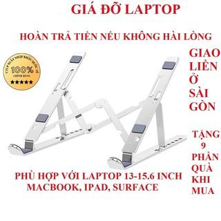 Kê laptop giá đỡ laptop nhôm giá đỡ macbook giá đỡ laptop tản nhiệt ipad surface gấp gọn chính hãng BH 12 tháng thumbnail