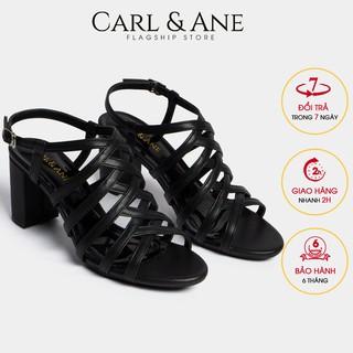 Carl & Ane - Giày sandal chiến binh thời trang nữ gót cao 7cm màu đen _ CS001