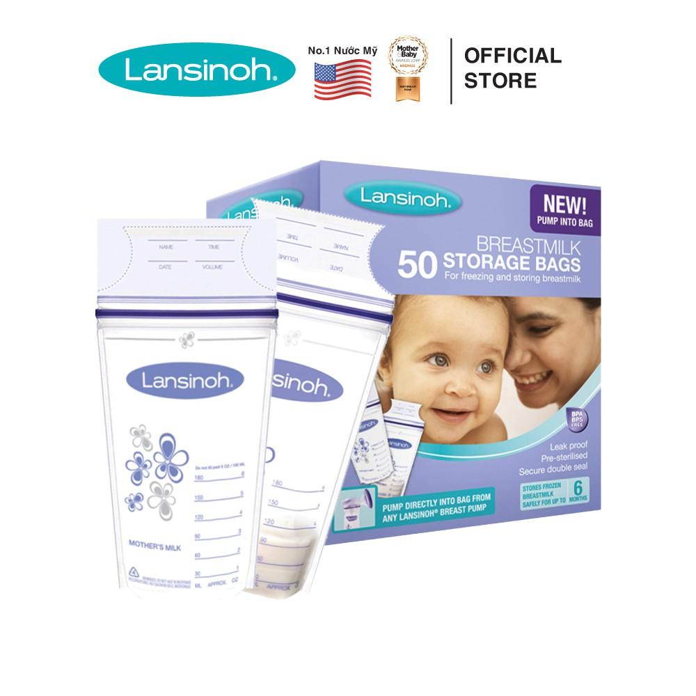 [MUA KÈM DEAL SỐC]Túi trữ sữa Lansinoh (50 túi/ hộp)