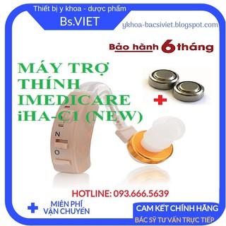 MÁY TRỢ THÍNH IMEDICARE IHA-C1 (NEW)- Máy Trợ Thính Không Dây Cho Người Già Nặng Tai, nghe kém tai trái hoặc tai phải thumbnail