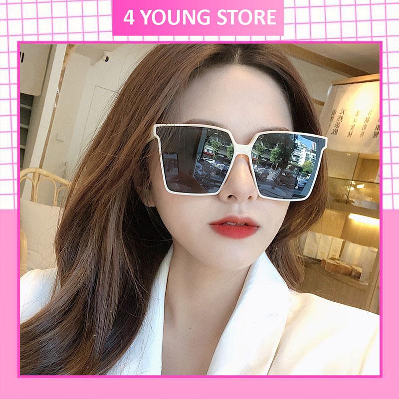 Kính mát nữ mắt vuông thời trang phong cách Hàn Quốc chống tia UV đẹp giá rẻ 4YOUNG 210