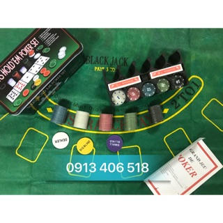 Bộ phỉnh poker 200 chip có số có thảm giá rẻ