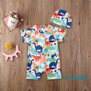Bộ đồ bơi + nón bơi thời trang dành cho bé trai