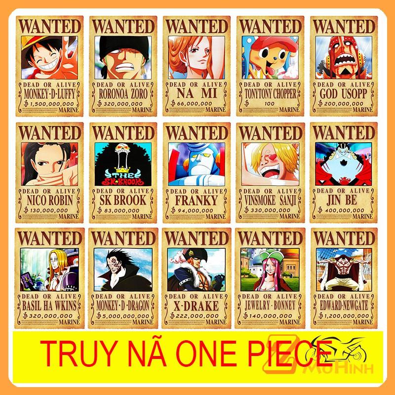 Poster Truy Nã One Piece kích thước 42*29 cm – Tranh Nhân vật hoạt hình One Piece dùng trang trí nội thất