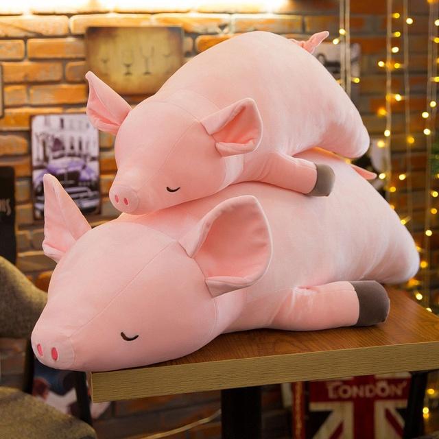 [Mã TOYSEP giảm 10% tối đa 15K đơn bất kỳ] Lợn ngủ nhồi bông khổ 70cm