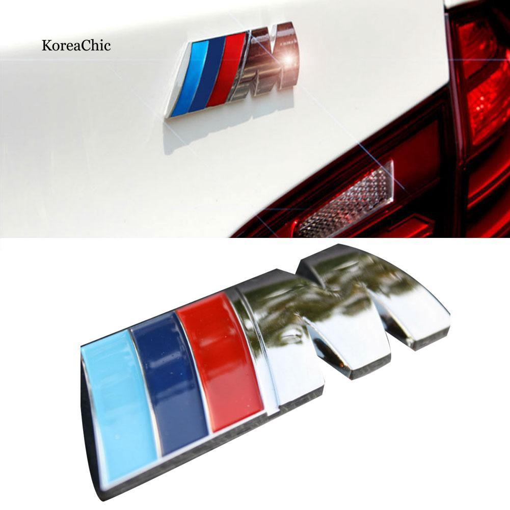 Logo dán trang trí xe hơi M 3D màu sắc cho xe hơi BMW