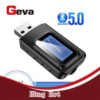 [ Hàng Hot ] Hàng sẵn sàng Thiết bị truyền phát âm thanh USB Bluetooth 5.0 màn hình LCD 2 trong 1 AUX cho PC TV thumbnail