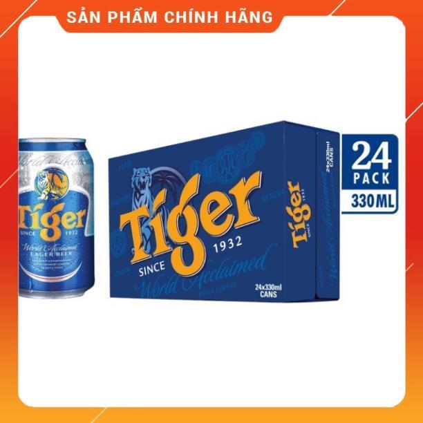 THÙNG BIA TIGER 24 lon / 1 thùng DATE MỚI