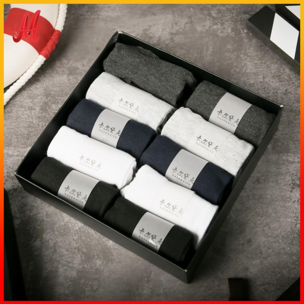 tất nam hộp 10 đôi chống hôi chân hàng xuất Nhật , 2 loại ngắn và trung