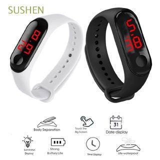 Đồng hồ LED dây silicon tập yoga với màn hình cảm ứng