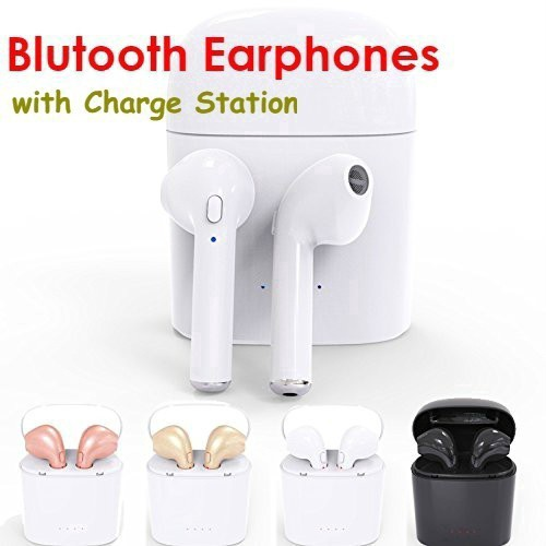 5 Colors I7 Bluetooth Headset Dual Ear Wireless Stereo Charging