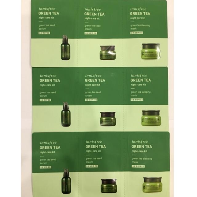 SET 3 gói SAMPLE Innisfree Green tea dưỡng da cao cấp (Serum + Kem dưỡng + Mặt nạ ngủ) - 3163914 , 1156799129 , 322_1156799129 , 35000 , SET-3-goi-SAMPLE-Innisfree-Green-tea-duong-da-cao-cap-Serum-Kem-duong-Mat-na-ngu-322_1156799129 , shopee.vn , SET 3 gói SAMPLE Innisfree Green tea dưỡng da cao cấp (Serum + Kem dưỡng + Mặt nạ ngủ)