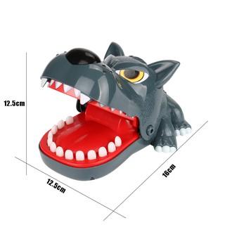 Đồ chơi khám răng sói bằng tay kích thước 16cm dùng cho gia đình
