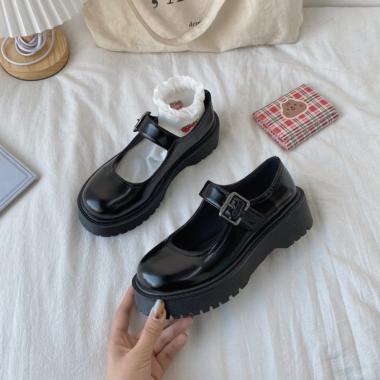 Giày Da Oxford Đế Dày Phối Nút Thời Trang Cho Nữ