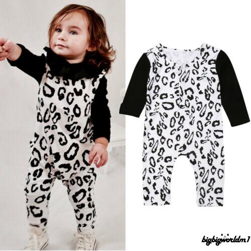 ❧EJY❧Cute Newborn Baby Girl Boy Leopard print Clothes Romper Jumpsuit Playsuit Outfit