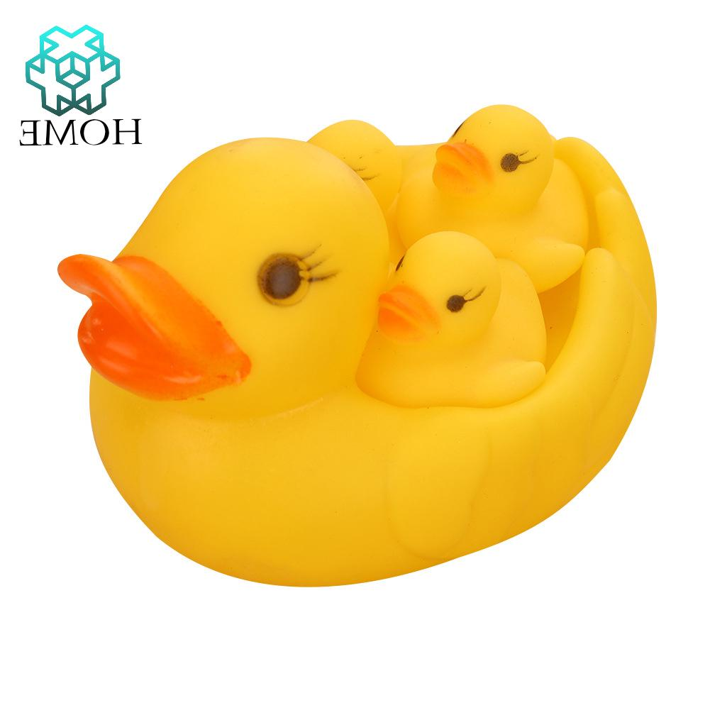 ♚Yellow rubber duck beach toy bath water floating sound soft plastic duck