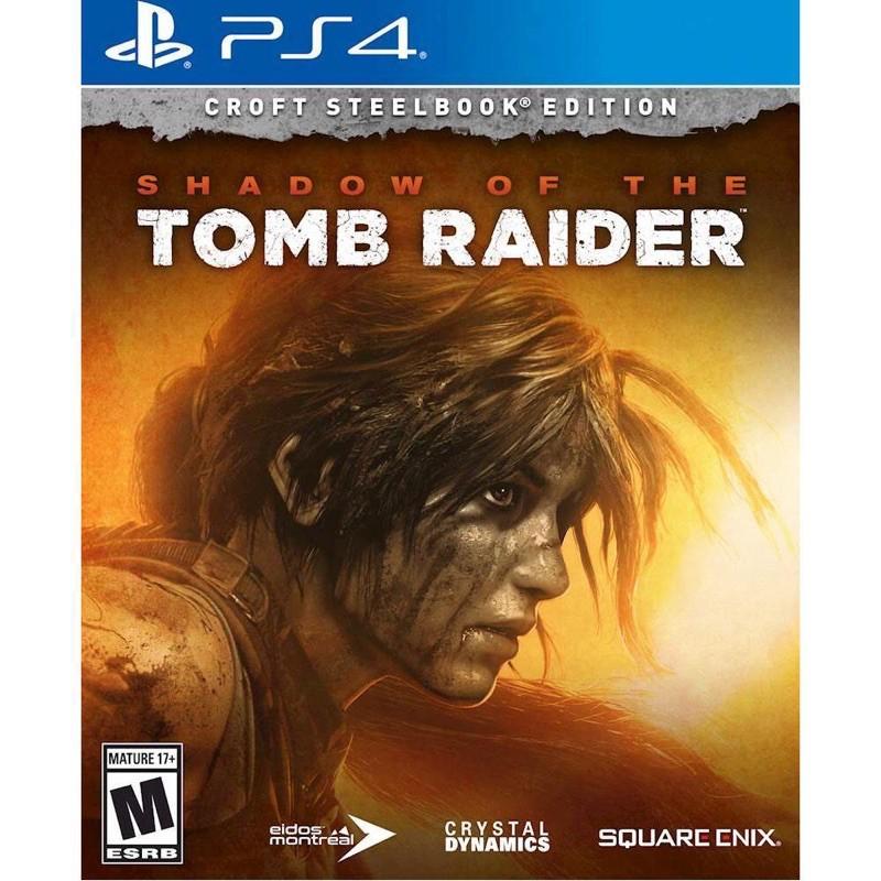Đĩa ps4: Shadow of the Tomb Raider steel book