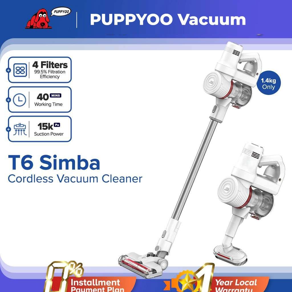 Máy hút bụi cầm tay Puppyoo T6 Simba máy hút bụi gia đình lực hút 15kPa công nghệ NIDEC MOTOR bảo hành chính hãng 2 năm