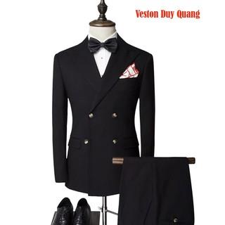 Big Sale Vest Đen Cao Cấp 6 Cúc, Combo Bộ Vest + Ghile Siêu Tiết Kiệm