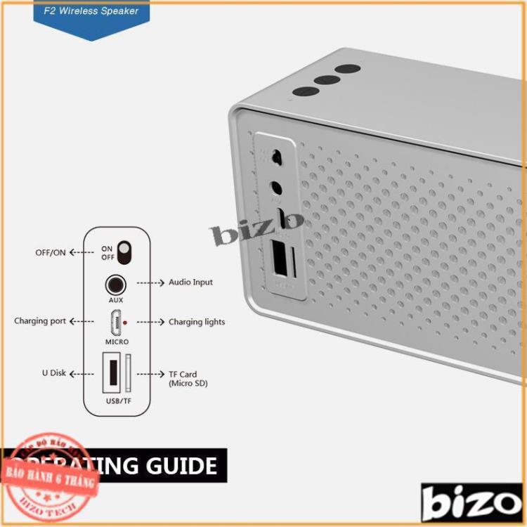 [PHIÊN BẢN MỚI NHẤT 2020] Loa bluetooth âm thanh siêu trầm F2, có hỗ trợ thẻ nhớ, Pin dung lượng cao