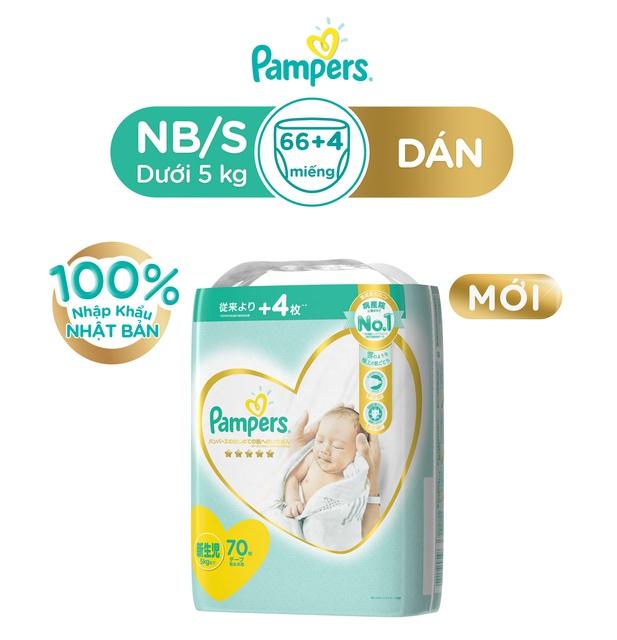 Tã Dán Pampers Nội Địa Nhật Bản NB66+4/S60+4/M48+4/L40+2
