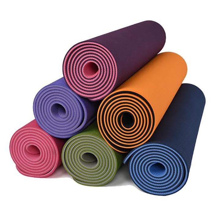 [Mã MASO88 hoàn 15% tối đa 35K xu đơn 99K] Thảm tập yoga 2 lớp TPE dày 6mm
