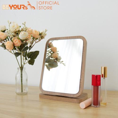 [Mã NOIT10BE9 giảm 10% đơn 200k] Gương gỗ trang điểm để bàn BEYOURs Phấn mirror nội thất kiểu hàn lắp ráp