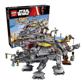 Lego 75157 star war Star The Captain Rex's AT-TE Lepin 05032 Cỗ Máy Khổng Lồ AT-TE Của Chỉ Huy Rex