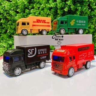 Bộ 4 xe THƯ BÁO - vận chuyển hàng hoá ( 2018-11 ) cho bé thumbnail