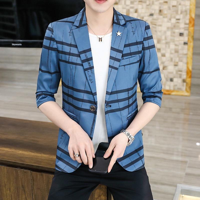 Áo khoác vest tay dài vải mỏng thiết kế lịch lãm cho nam
