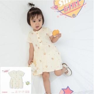 Váy babydoll hero trắng, quần áo trẻ em, phụ kiện, đồ sơ sinh hãng Chaang chất liệu cotton an toàn cho bé thumbnail