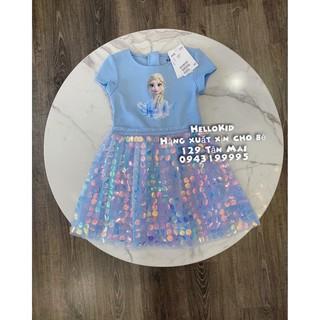 váy elsa gắn kim sa xanh