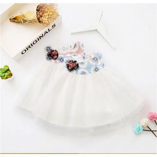 Váy đầm công chúa in họa tiết hoa bồ công anh cho bé gái giá rẻ( tặng kèm hoa cài ngực)