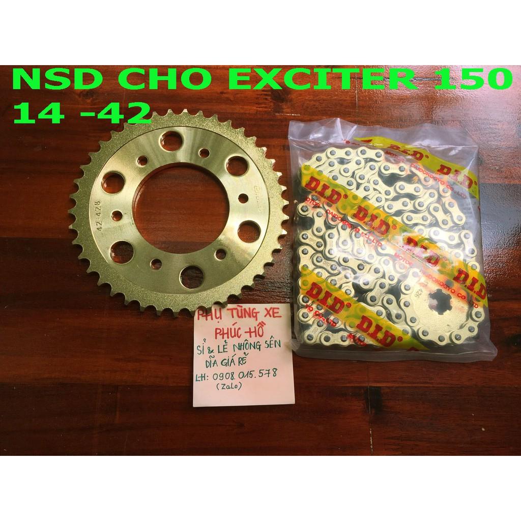 Nhông sên Dĩa Vàng Exciter 150 & Nhiều Xe - NSD DID Vàng