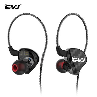 CVJ CSA 1BA+1DD In Ear Earphone Hybrid Headset HIFI Music Sports Earbuds Noise Cancelling Earbud With 2Pin Replaced Cable
