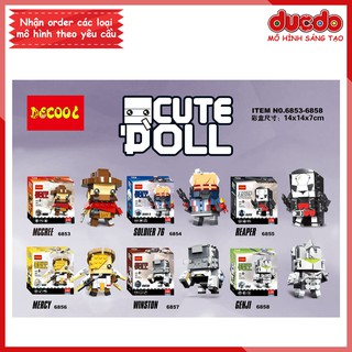 DECOOL 6853-6858 Bộ 6 Brick Headz nhân vật trong Overwatch - Đồ chơi Lắp ghép Minifigures Mô hình Mini BrickHeadz thumbnail