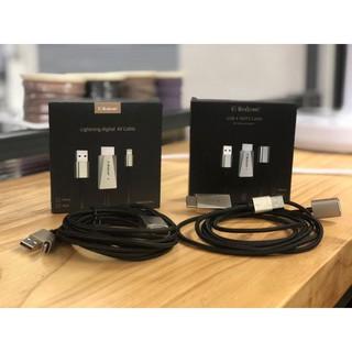 """[ FREE SHIP ] Cáp đa năng Mirascreen """"3in1"""" Điện thoại sang Tivi chuẩn Lightning, Micro USB, Type-C – Hàng chính hãng"""