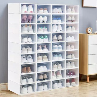 [❌FREE SHIP❌] Hộp Đựng Giày Dép Nắp Nhựa Cứng Mica Trong Suốt, Size lớn Chịu Lực 4kg 88190