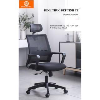 Ghế xoay văn phòng cao cấp Best Office Model 2020 – Lưng lưới thoáng mát – sạch khuẩn