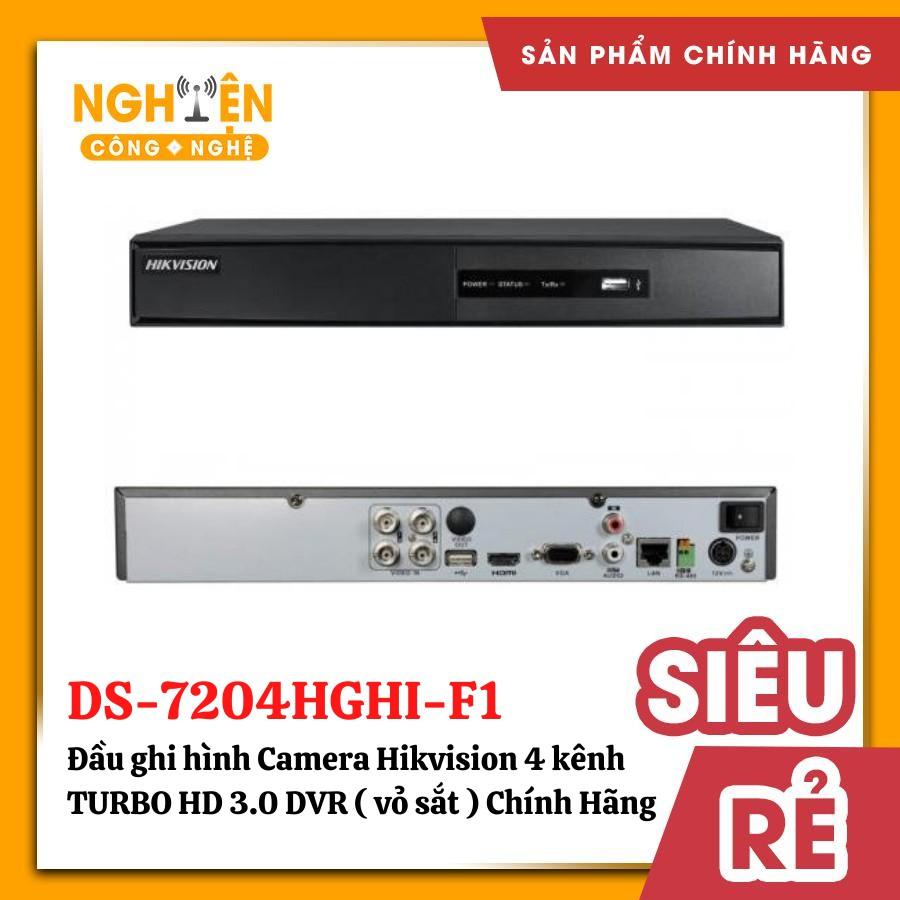 Đầu ghi hình Camera Hikvision 4 kênh DS-7204HGHI-F1 TURBO HD 3.0 DVR ( vỏ sắt )