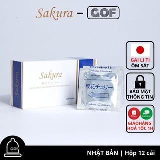 Bao cao su mỏng 0.03 mm Sakura gai li ti ôm sát Nhật Bản Hộp 12C - Chính Hãng - GoF Store thumbnail