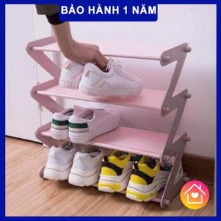 [XẢ KHO] Kệ giày hàng loại 1, kệ giày dép 4 tầng – rẻ, bền, đẹp, chắc chắn, kệ giày hình chữ Z