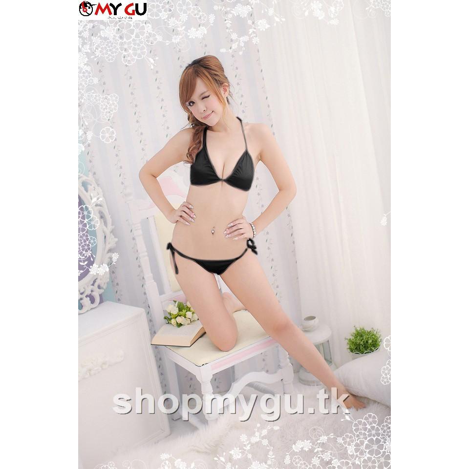 Bộ đồ lót lọt khe buộc dây sexy quyến rủ BL03 - Màu hồng