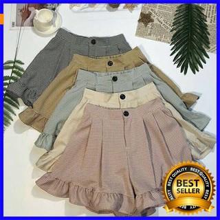 [Khuyến Mãi sốc] QUẦN SOOC KẺ GẤU BÈO váy chấm bi áo len bẹt vai