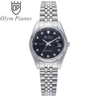 Đồng hồ nữ mặt kính sapphire chống xước Olym Pianus OP68322 OP68322LS đen thumbnail