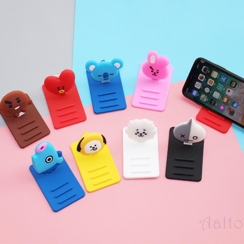 aalto ready Stock] Cod Bangtan Boy Bts Bt21 Kpop Army Cartoon Phone Mobile Holder Bracket Tablet Bracket