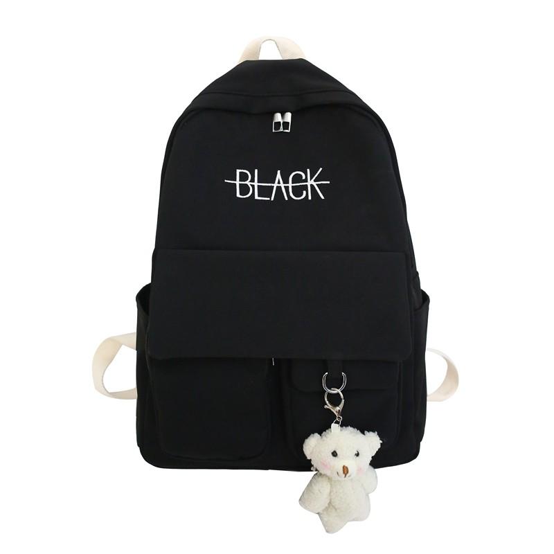 Faya - Balo BLACK gấu bông trẻ trung